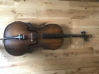 Cello 1/4 size made in Hungary.