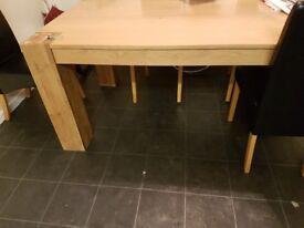 Chunky wood table