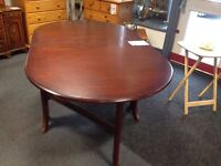 Dark Wooden Extendable Dining Table- CHARITY