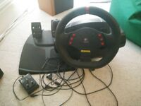 Logitech Momo Racing Force Feedback Steering Wheel PC/PS3, used but functioning properly