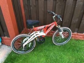 """Boys 20"""" bike falcon with full suspension can deliver for a small charge"""