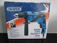 Brand new boxed Draper 600W 230v Hammer Drill