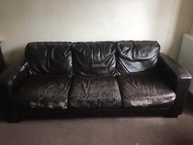 FREE - 3 Seater sofa and Armchair