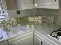 Kitchen bread bin fruit bowl shabby chic tray