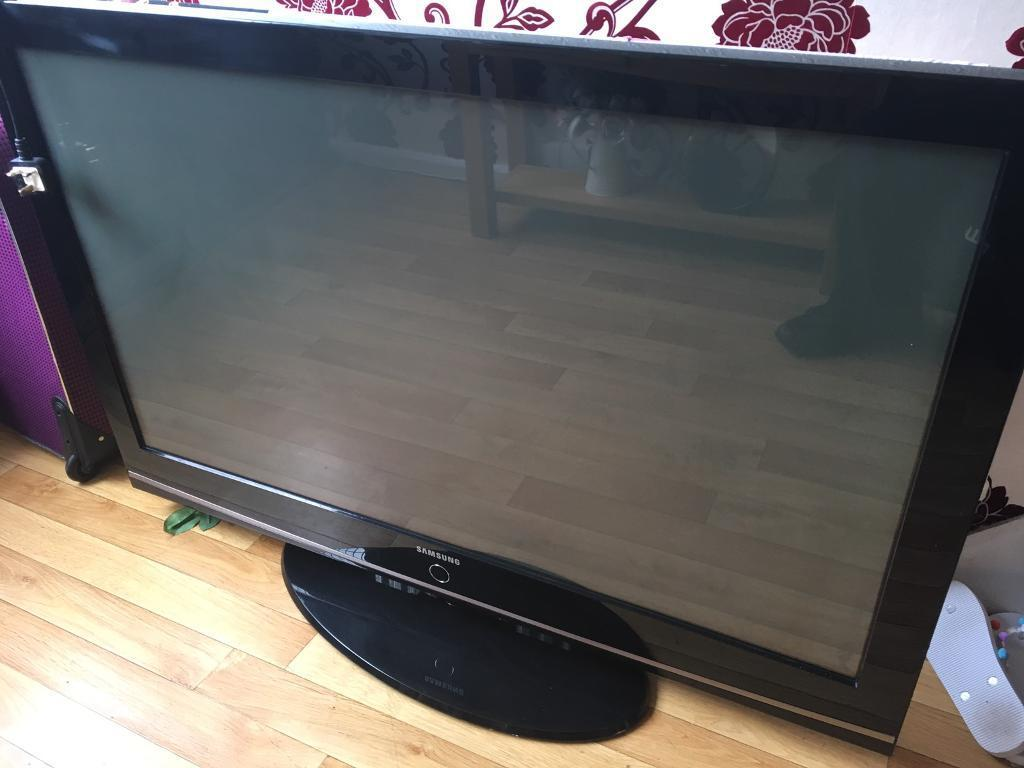 Samsung (50inch) TV (must go asapin Andersonstown, BelfastGumtree - Hardly used comes with remote and is in perfect working condition. Selling due to getting a new one. Great deal if your looking to upgrade. Willing to negotiate on price. Text only, no phone calls.Pickup only I dont deliver.Offers welcome, no time...