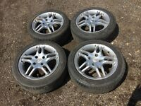 "For sale - Ford Focus / fiesta 15"" alloy wheels - good tyres"