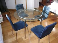 """Kitchen,Dining or even office """"Minimalist Retro"""" round table and chairs"""