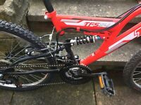 """Boys 24"""" Trax mountain bike with full suspension"""