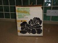 Original Kenwood Chef attachments including Shredder and Slicer