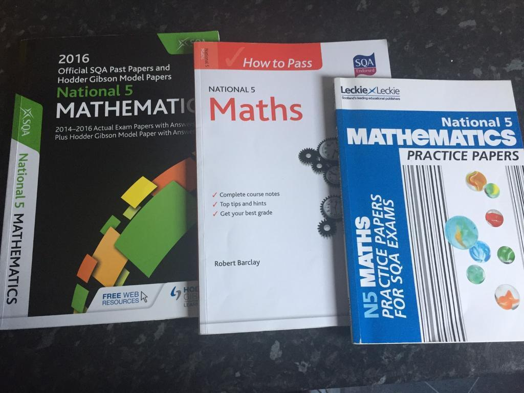 SQA Nat 5 Mathematics Practice, Course and past papers £12.50