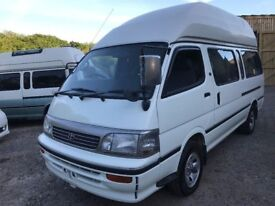 "TOYOTA HIACE HIGH TOP"""" MANUAL GEARBOX """" 4WD FRESH IMPORT 4 BERTH LWB CAMPERVAN"