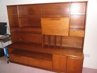 Retro 1970's wall unit/display cabinet.