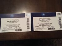 2 x Seated Tickets Kendrick Lamar DAMN tour O2 Arena London, Mon 12 Feb 2018