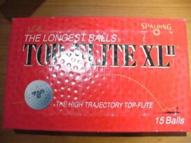 "NEW / UNUSED SPALDING TOP - FLITE XL GOLF BALLS WITH ""MOBIL"" LOGO"