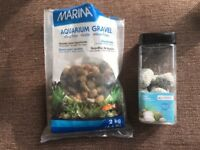 Aquarium gravel / stones and aqua pebbles for fish tank