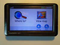 GARMIN NUVI 255W SAT NAV with EUROPEAN MAPS plus ALL THE FITTINGS, WORKING, USED