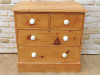 Antique pine unique chest of drawers Organic waxed finish (Delivery)
