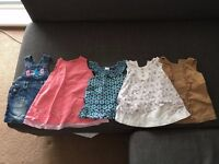 bundle of baby girl clothes, 3-6 months, including summer dresses