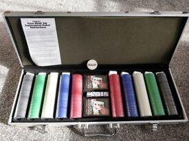 Poker Set In Steel Case, Unused