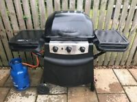 3 gas burned BBQ