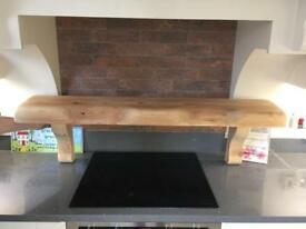 Solid pine beam