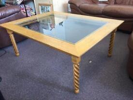Solid oak coffee table