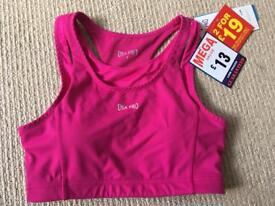 Brand new pink USA pro sports bra size 8 with tags £4