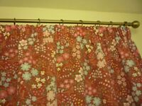 "Pair of curtains plus matching tie-backs. Drop 144 cm (57""), Width of each curtain 168 cm (66"")."