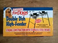 Classic for Dogs Double Dish High-Feeder
