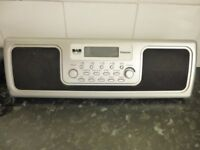 Mikomi DAB and FM Stereo Radio Clock Alarm Excellent Condition