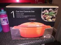 Cast iron casserole dish. 🎄