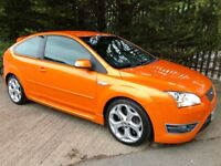 2006 Ford Focus St 3 electric orange xenons black heated leather one owner from new!