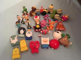 Mixture of character toys