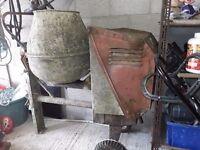 Deisel lister concrete mixer