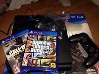 PS4 slim 1tb with COD infinite warfare and GTA 5