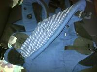 Mothercare blue baby to body carrier