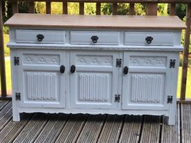 Old Charm Painted Sideboard