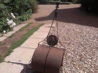 Vintage Antique Cast Iron Garden Roller.
