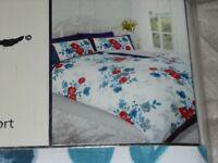Vintage sHABBY cHIC Blue Floral Duvet Cover & 2 pillowcases - Double – BNIB