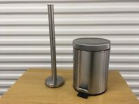 IKEA STRAPATS bin and GRUNDTAL toilet roll holder, hardly used