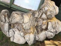 Moulded waterfall for outdoor pond approximately 5' x 3' -