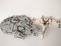 Lego Star Wars; Millennium Falcon and X Wing 6212 7965
