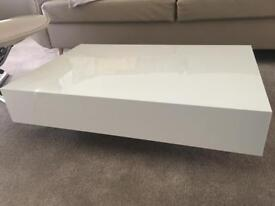 *Updated Price* Floating white gloss coffee table