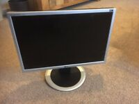 Monitor computer LG silver - with stand