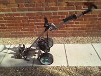 Electric Hill Billy golf trolley - narrow wheel base - with seat