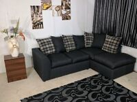 BRAND NEW ELEGANT LUXURY CHARLES MIDNIGHT (3+2) SOFA SET OR CORNER SOFA ON SPECIAL OFFER