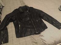 River Island Black Leather Jacket