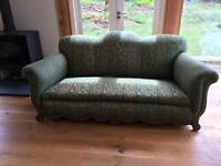 Vintage/ Antique sofa and armchair.
