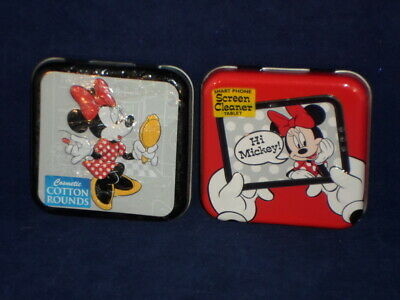 DISNEY MINNIE MOUSE Collector Series #4 & # 5 Tins Cotton Ro