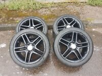 """Genuine Mercedes 17"""" Alloy Wheels and Tyres"""